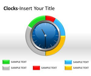 Analog Clock PowerPoint Template