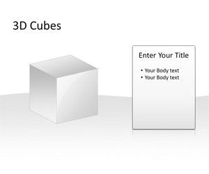 3D Cubes Template for PowerPoint