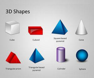 3D Shapes Template for PowerPoint