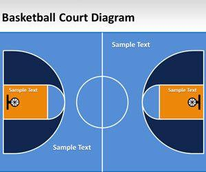 Basketball Court Diagram for PowerPoint