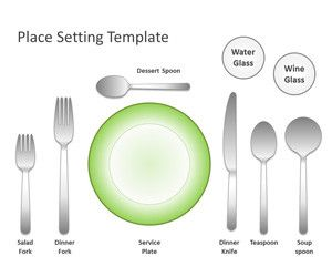 Place Setting Template for PowerPoint