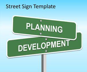 Street Sign PowerPoint Template