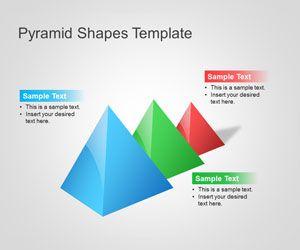 Plantilla PowerPoint de Pirámides 3D