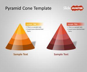 Pyramid Cone PowerPoint Shapes Template