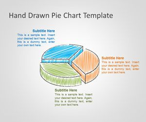 Hand Drawn Pie Chart Template for PowerPoint