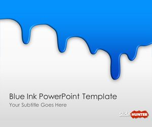 Blue Ink PowerPoint Template