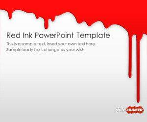 Red Ink PowerPoint Template
