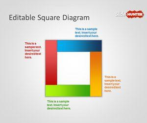 Editable Square Diagram for PowerPoint