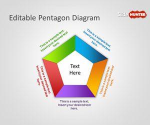 Editable Pentagon Diagram for PowerPoint