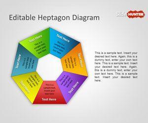 Editable Heptagon Diagram for PowerPoint