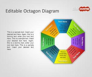 Editable Octagon Diagram for PowerPoint