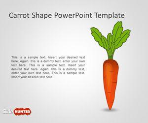Carrot Shape PowerPoint Template