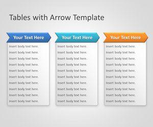 Plantilla PowerPoint de Tablas con Flechas