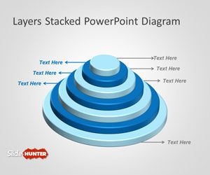 Stacked Layers PowerPoint Diagram
