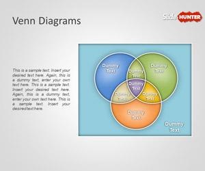 Plantilla con Diagrama de Venn Creativo para PowerPoint