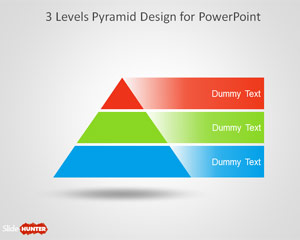 3 Level Pyramid Template for PowerPoint