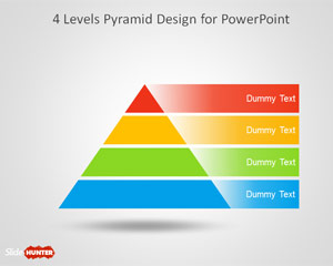 4 Level Pyramid Template for PowerPoint