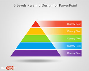 5 Level Pyramid Template for PowerPoint