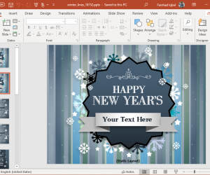 2020 winter new year powerpoint template