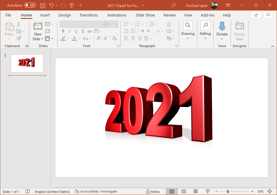 2021 clipart for PowerPoint