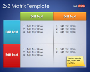 2×2 Matrix Template for PowerPoint