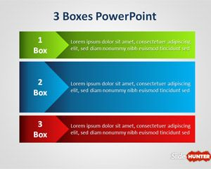 Three Boxes PowerPoint Template