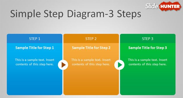 3 step diagram powerpoint