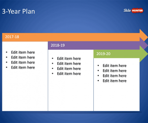 3-Year Plan Template for PowerPoint