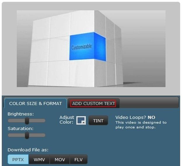3D Cube Animation With Custom Text