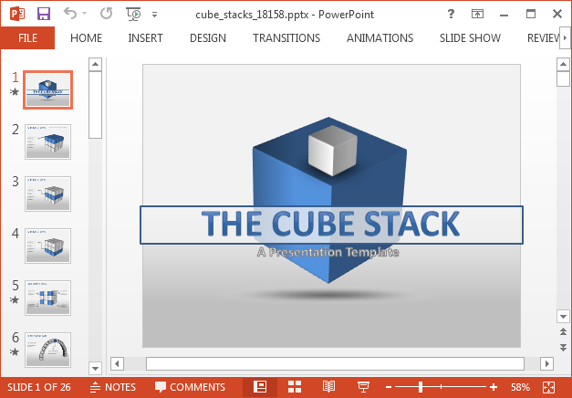 3D cube diagrams with animations