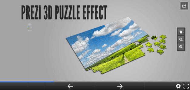 3D puzzle effect Prezi template