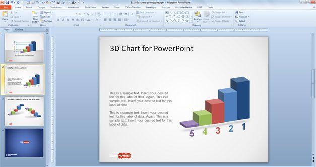 Plantilla de Gráfico 3D para PowerPoint
