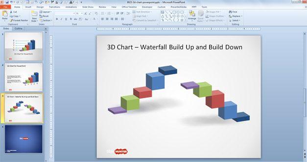 Grafico de Cascada para PowerPoint
