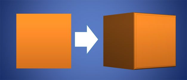 cube 3d powerpoint shapes