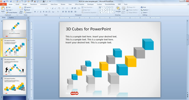 Cubes 3D PowerPoint Template