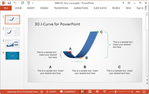 3d j curve for powerpoint