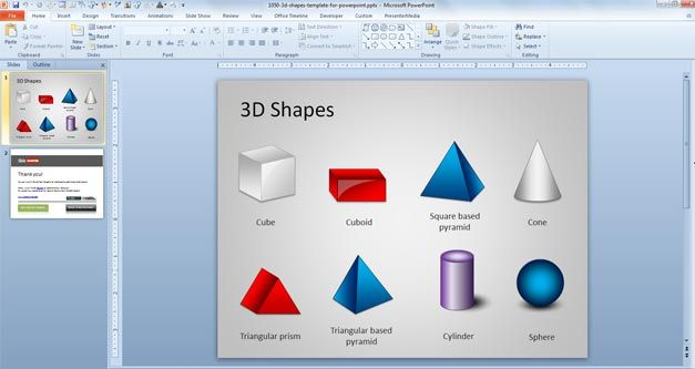 3D Shapes for PowerPoint