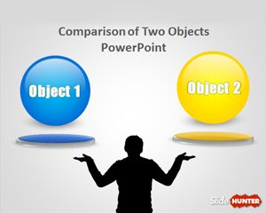 Comparison of Two Objects PowerPoint Template