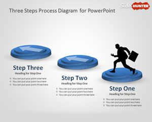 Three Steps Process Diagram for PowerPoint
