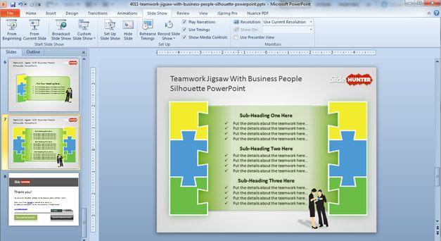 jigsaw powerpoint template