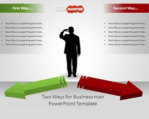 Two Ways Business Decision Template for PowerPoint Presentations