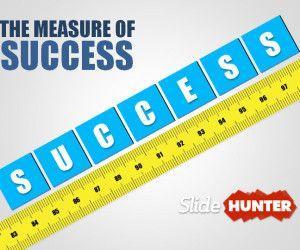 3D Measuring Success PowerPoint Template