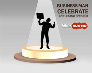 Business Stage Spotlight PowerPoint Template