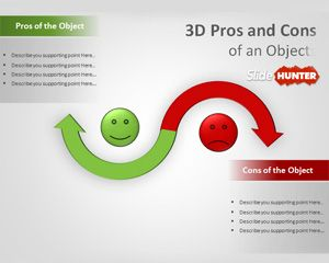 3D Pros & Cons PowerPoint Template