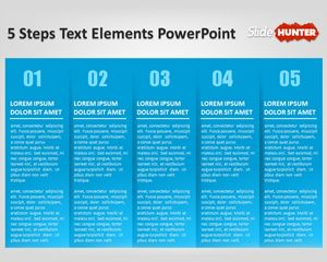 Cool Five Steps Powerpoint Template with Textbox