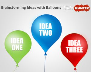 Balloons PowerPoint Template for Brainstorming