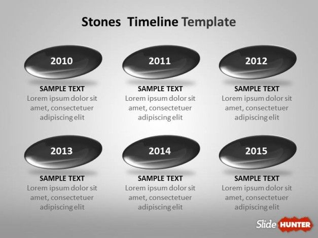 Timeline Template for PowerPoint with Stones