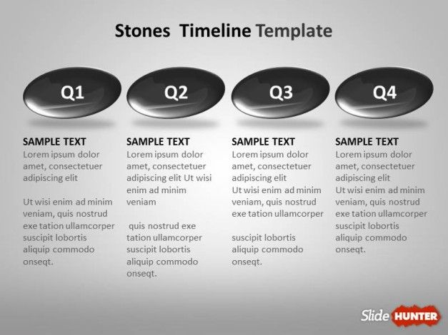 Timeline Template Year to Year Design with Stones