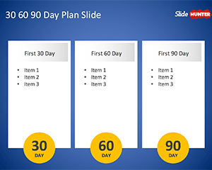 Free 30 60 90 template for PowerPoint
