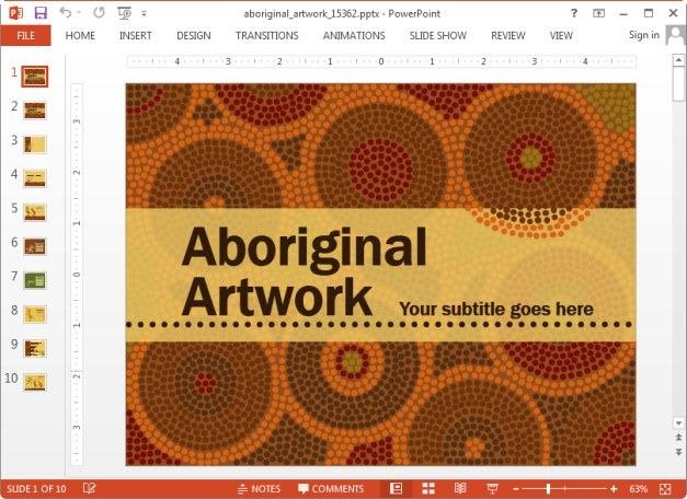 Aboriginal artwork slide designs